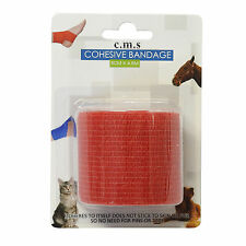CMS Medical 5cm Self Adhesive Pro Cohesive Bandage Elastic Support Roll Wrap Red