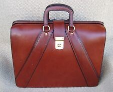 Handmade Valise Style Leather Briefcase