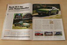 Youngtimer 1418) Mazda RX-7 mit 105PS in einer seltenen Vorstellung auf 2 Seit