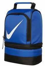 Nike lunch box tote school bag for boys/girls 2 compartments insulated dome BLUE