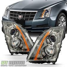 2008 2009 2010 2011 2012 2013 Cadillac CTS Headlights Halogen Headlamps w/ Bulbs