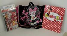 Disney Minnie Mouse Messenger Bag W/ Folder & Sketch Book Set NWT Free Ship