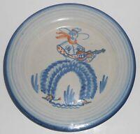 John B Taylor Ceramics Louisville Stoneware Western Cowboy Plate #3