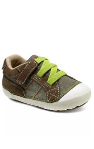 STRIDE RITE SRT SM Goodwin Infant Boys Shoes BB54033 Size 4M NIB Brown Green