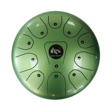 """12"""" Steel Tongue Drum/Kong Drum (Bag included)-C Major Natural Scale Green"""