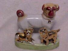 Vintage Pug Dog & Pups Porcelain Figurine Statue # 2 Germany