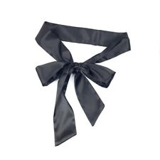 Women Satin Waistband Faux Silk Waist Belt Slim Sash Lace Up Bow Tie for Dress