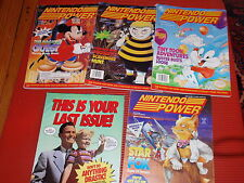 SET OF FIVE 1993 NINTENDO POWER MAGAZINES JANUARY/MAY IN VERY GOOD CONDITION