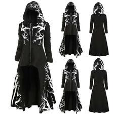Halloween Cosplay Umhang Kostüm Damen Gothic Cape Hexe Vampir Kapuzenmantel