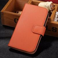 For Samsung Galaxy A3 2016 A310F Genuine Real Leather Wallet Flip Case Cover