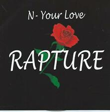 JAZZ HIP HOP CD RAPTURE N - YOUR LOVE  RAP TURE
