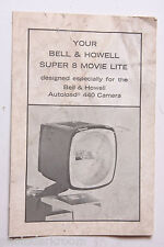 Bell Howell Super 8 Movie Light Instruction Manual Book - English - USED B56