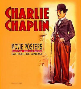 Vintage Poster Book Charlie Chaplin Silent Film Comedy Clown Movies Cinema Humor
