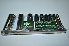 "SK 4949 9 Piece 1/4"" Drive 12 Points Deep Sae Socket Set 7/32""to 9/16"" Made USA"