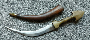 Antique Islamic Iraqi Marsh Arab Jambiya Khanjar Dagger Leather Scabbard