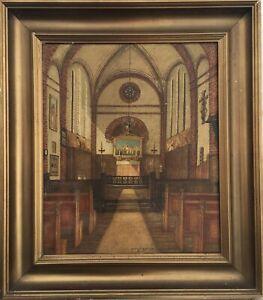 Sylvester Wildt (Xix-Xx) Interior Andeas Church IN Kopenhagen 1928 Damaged