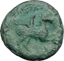 Philip II Alexander the Great Dad OLYMPIC GAMES Ancient Greek Coin Horse i46494