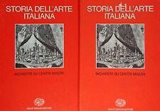 F. ZERI STORIA DELL'ARTE ITALIANA 8 VIII INCHIESTE SU CENTRI MINORI EINAUDI 1980