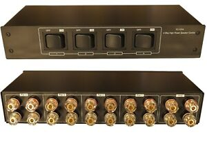 Audiophile 4 Zone Speaker Pair 200W Selector Switch Gold Plated 4mm Banana Jacks