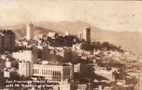 Postcard RPPC San Francisco Russian Hill Mt Tamalpais