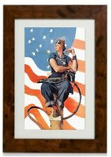 Rosie The Riveter  Framed Print By Norman Rockwell