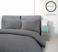 Country Style Herringbone 100%Brushed Cotton Flannelette Duvet Cover Bedding Set