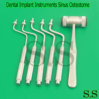 Dental Implant Instruments Sinus Osteotome Surgical Bone Spreading With Mallet