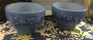 """AMBIANCE  Madras 2 BOWLS 5"""" Blue Tone Bowl EXCELLENT COND. Ambiance Collections"""