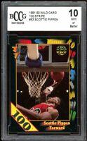 1991-92 Wild Card 100 Stripe #83 Scottie Pippen Card BGS BCCG 10 Mint+
