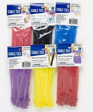 """4"""" Cable Ties Zip Tie 4 Inch ~ 6 Different Colors or Mix Nylon Qty 75, 100, 450"""