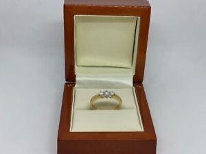 0.25ct Diamond 18ct Yellow Gold Ladies Three Stone Ring