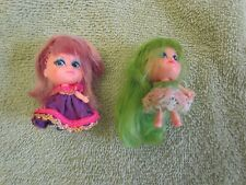 Two LIDDLE KIDDLE Dolls - one with green hair