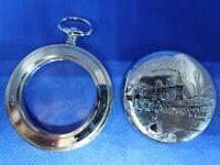 Boitier montre de poche Taschenuhrgehäuse pocket watch case Chemin de fer Train