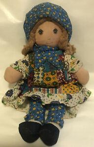 """Vintage 1974 Knickerbocker Oringinal Holly Hobbie Fabric Doll 9"""""""