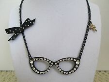 Auth Betsey Johnson Miami Chic Cat Eye Sunglasses Large Long Pendant Necklace