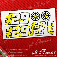Set 7 Adesivi Stickers IANNONE 29 replica DUCATI small