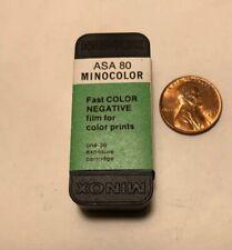 Vintage Minox MinoColor ASA 80 fast color negative Film 36 Exp Expired 1973