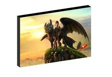 """HOW TO TRAIN YOUR DRAGON hiccup and toothless 12""""X16"""" (A3) CANVAS PICTURE"""