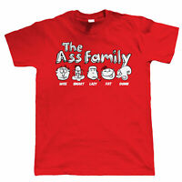 The Ass Family Mens Funny Offensive T Shirt, Gift for Dad Him