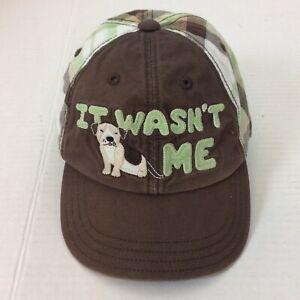 Gymboree It Wasn't Me Puppy Dog Brown Green Cotton Baseball Hat Cap 12-24 Mos