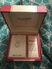 Footnotes Friends Sterling Silver Necklace True Friend Touches Your Heart