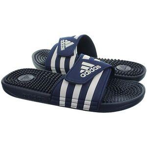 Adidas Adissage blau weiß Herren Slipper Badelatschen Poolsandalen Slides NEU