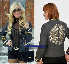 Bloggers FAV!!! ZARA gris chaqueta corta de estilo militar Mezcla De Lana Talla S UK 8