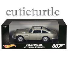 Hot Wheels 007 GOLDFINGER James Bond 1963 Aston Martin DB5 1:18 CMC95 Silver