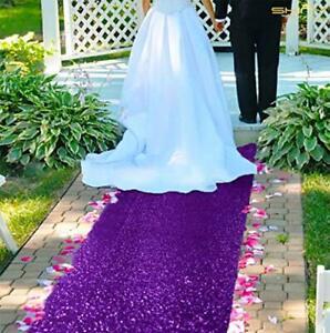 AisleRunnersforWeddings --Sequin Aisle Runner Glitter Aisle 2FTx15FT Purple
