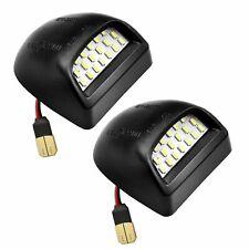 2x Rear License Plate Light Lens LED Bulb For Chevy Silverado Avalanche Escalade