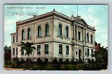 Winnipeg MB, Carnegie Public Library, Manitoba Canada Vintage c1908 Postcard