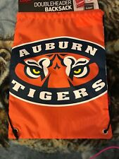 Auburn Tigers Full Size Drawstring Backpack New