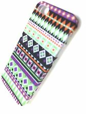 iPhone 5 5S SE Case Aztec Tribal Tribe Retro Hard Cover for Apple + S Protector