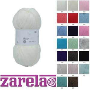 Rico Baby So Soft DK 100g ****ALL COLOURS****